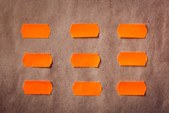 Sticky orange notes Royalty Free Stock Photography
