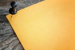 Sticky of orange paper note Stock Photography