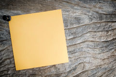 Sticky of orange paper note Royalty Free Stock Photography
