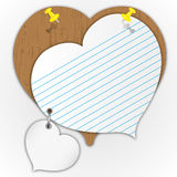Sticky pad heart pattern Stock Photos