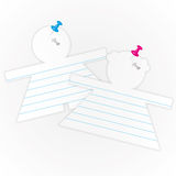 Sticky pad with pin. Sticky pad with pin by illustrations Royalty Free Stock Photo