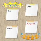 Sticky pads. And mark message Stock Image