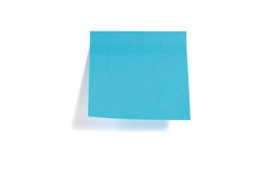 Sticky paper. Blue sticky paper isolated on white background Royalty Free Stock Image