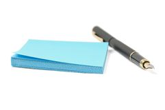 Sticky Paper And Pen Stock Photos