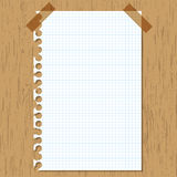 Sticky paper graph. On wooden board Royalty Free Stock Images