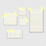 Sticky Paper Notes Pack Collection Set on Transparent Background  Vector Illustration Royalty Free Stock Photos