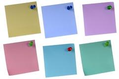 Sticky Paper Set Stock Photo