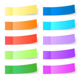 Sticky paper set Royalty Free Stock Photography