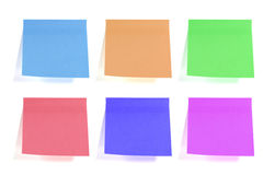Sticky papers Stock Images