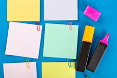 Sticky papers set Royalty Free Stock Photos