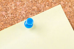 Sticky Post on Cork Board Royalty Free Stock Photo