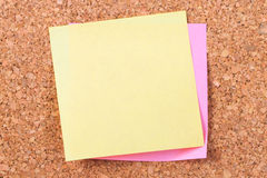 Sticky Post on Cork Board Royalty Free Stock Images