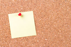 Sticky Post Pinned on Cork Board Stock Images
