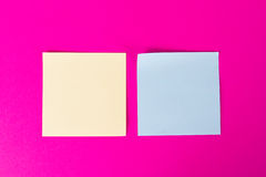 Sticky Posts on Pink Background Royalty Free Stock Photos