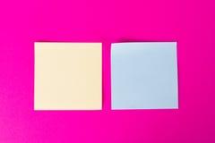 Sticky Posts on Pink Background Royalty Free Stock Photos
