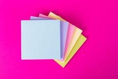 Sticky Posts on Pink Background Stock Image