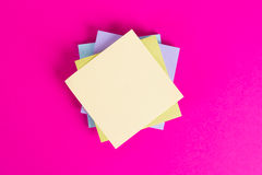 Sticky Posts on Pink Background Stock Photography