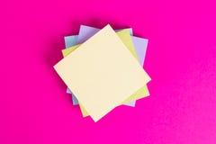 Sticky Posts on Pink Background Stock Photography