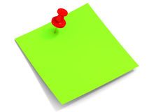 Sticky reminder note Royalty Free Stock Image