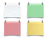 Sticky reminder notes realistic colored paper Royalty Free Stock Photo