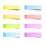 Sticky reminder notes Stock Image