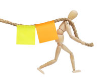 Sticky reminders Royalty Free Stock Photography