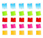 Sticky retail notes. Vector illustration of sticky retail notes. 25 elements in various colorful versions Royalty Free Stock Photography