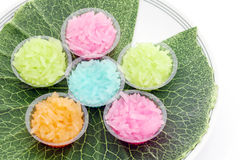 Sticky rice in 4 colors. Royalty Free Stock Photography