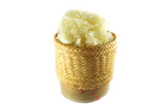 Sticky rice in a bamboo box Stock Photography