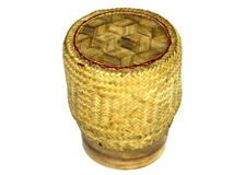 Sticky rice bamboo container Stock Photo
