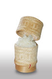Sticky rice in bamboo container Royalty Free Stock Photos
