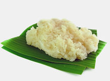 Sticky rice on the banana leaf Royalty Free Stock Photos