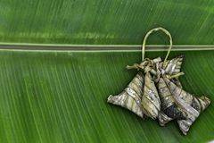 Sticky rice in banana leafe Stock Image