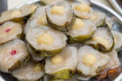 Sticky Rice Cake is a food on Ancestor Worship. On Chinese New Year and ghost festival stock image