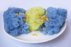 Sticky rice in coconut cream Stock Images