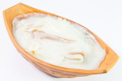 Sticky rice with coconut cream Royalty Free Stock Photo
