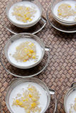 Sticky rice with coconut milk and corn Stock Photos