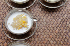 Sticky rice with coconut milk and corn Stock Photo