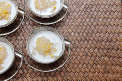 Sticky rice with coconut milk Stock Photos