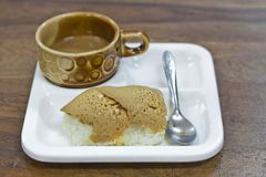 Sticky rice custard Stock Photography