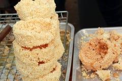 Sticky rice fried asia food. Stock Photos