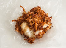 Sticky rice with fried pork Royalty Free Stock Photos