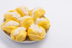 Sticky rice with jackfruit Thai dessert Stock Photo