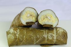 Sticky rice. A kind of thai meat dish Royalty Free Stock Photos