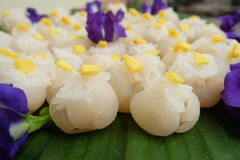 Sticky rice in longan Royalty Free Stock Photo
