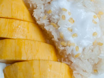 Sticky rice with mango Stock Photo