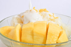Sticky rice with mango Royalty Free Stock Images