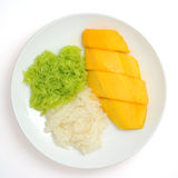 Sticky Rice with Mango Stock Photography
