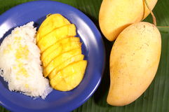 Sticky rice mango Stock Photos