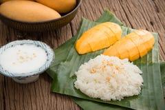 Sticky rice with mango Royalty Free Stock Image